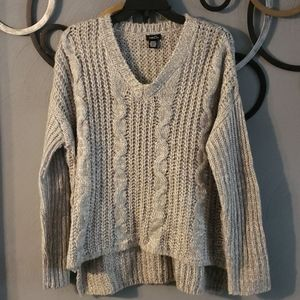 Rue21 Gray Cable Knit Pullover Sweater M